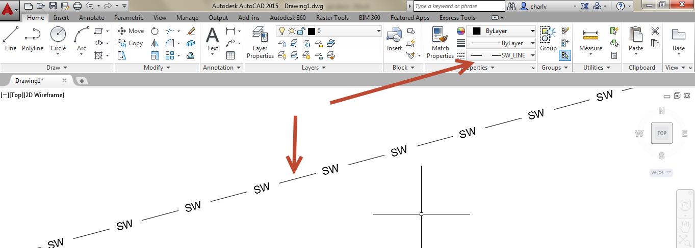 13. Draw linetype