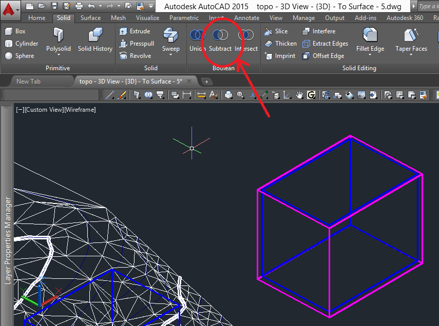 3D Printing a Revit Toposurface using Autodesk AutoCAD