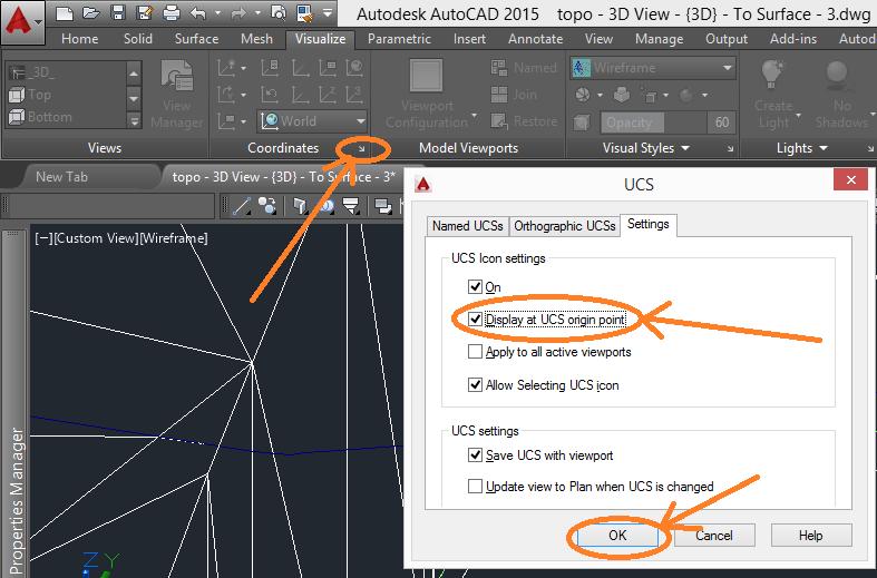 UCS-properties 3D Printing a Revit Toposurface using AutoCAD