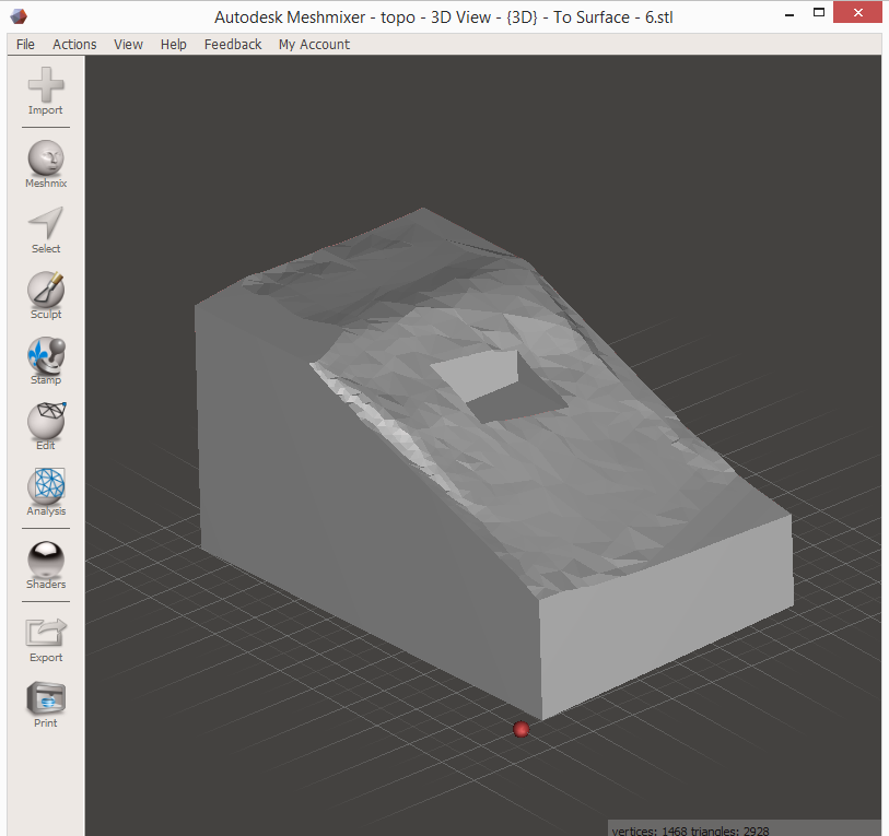 3D Printing a Revit Toposurface using AutoCAD