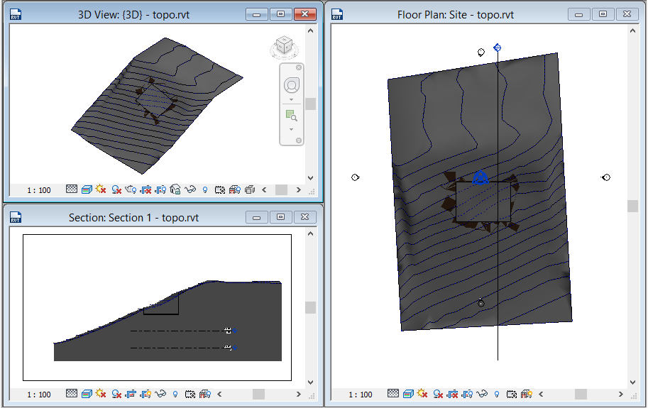 editing-graded-region-2 3D Printing a Revit Toposurface using AutoCAD