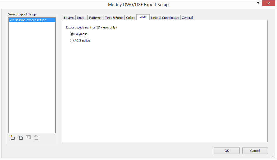modify-dwg-export-setup 3D Printing a Revit Toposurface using AutoCAD