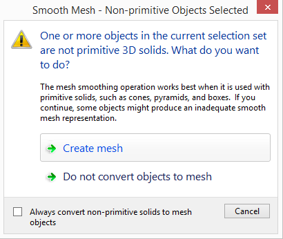 smooth-mesh 3D Printing a Revit Toposurface using AutoCAD