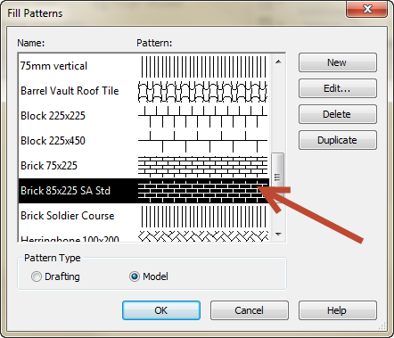 south-african-brick-pattern-in-revit How to edit Revit Fill Pattern .pat file to match South African brick course height