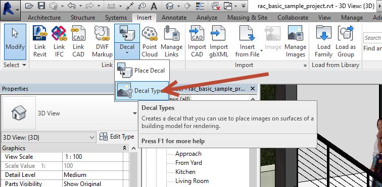 3 Non-rectangular Revit decal image.