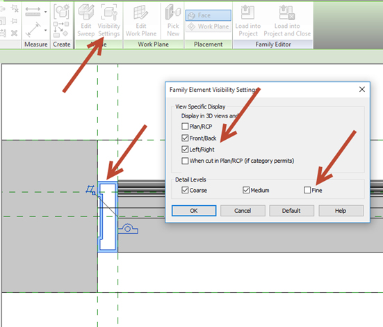Revit-Family-in-plan-view-04 How to Fix a Revit Family in plan view