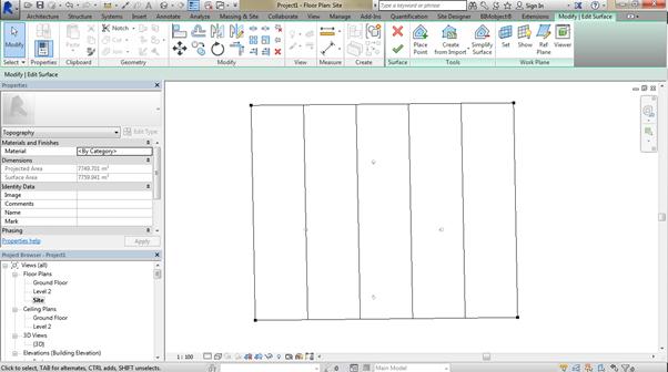 flat-site-Revit-using-Site-Designer-01 How to create a flat site Revit using Site Designer. (Part 1 of 2)