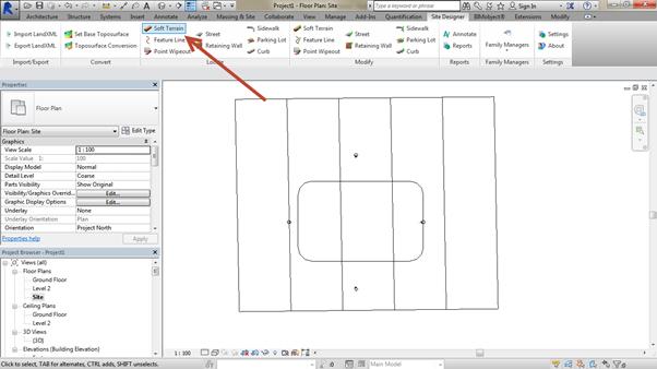 flat-site-Revit-using-Site-Designer-03 How to create a flat site Revit using Site Designer. (Part 1 of 2)