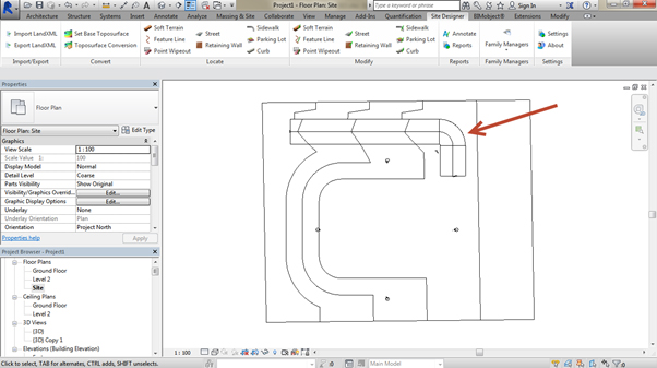 flat-site-Revit-using-Site-Designer-12 How to create a road on an existing site using the Site Designer (Part 2 of 2)