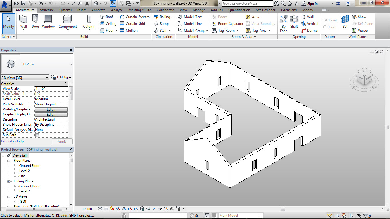 3D-Printing-a-Revit-Building-01 How to 3D Print a Revit Building