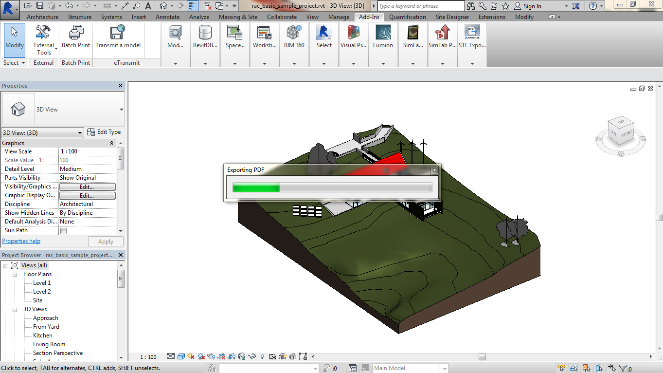 Export Revit Models to 3D PDF SimLab 08