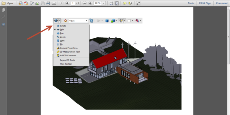 Export Revit Models to 3D PDF SimLab 09