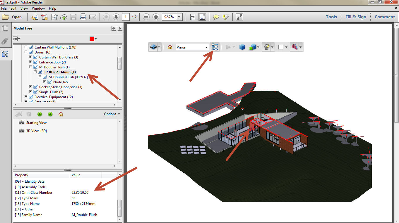 Export Revit Models to 3D PDF SimLab 12