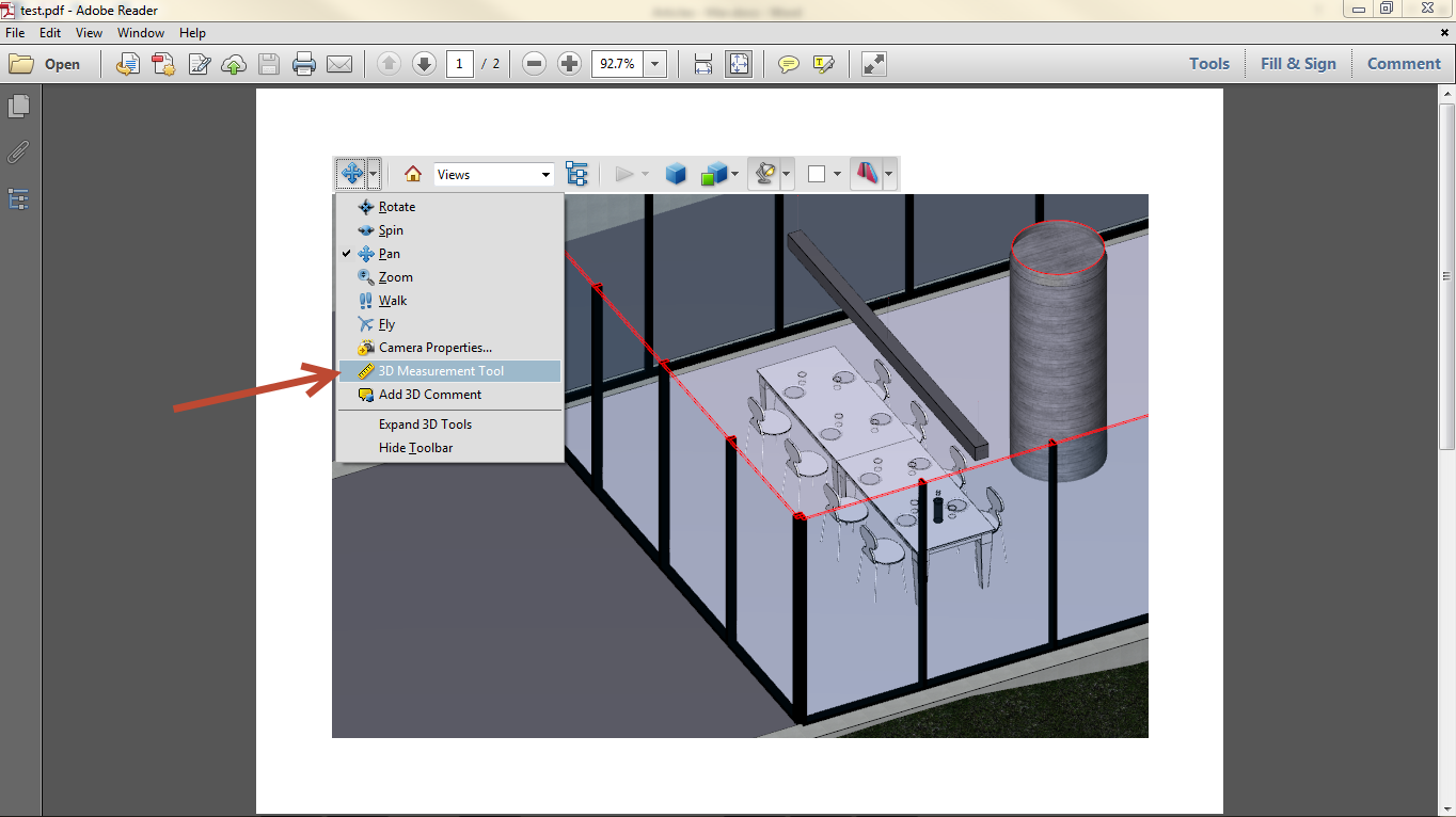 Export Revit Models to 3D PDF SimLab 13