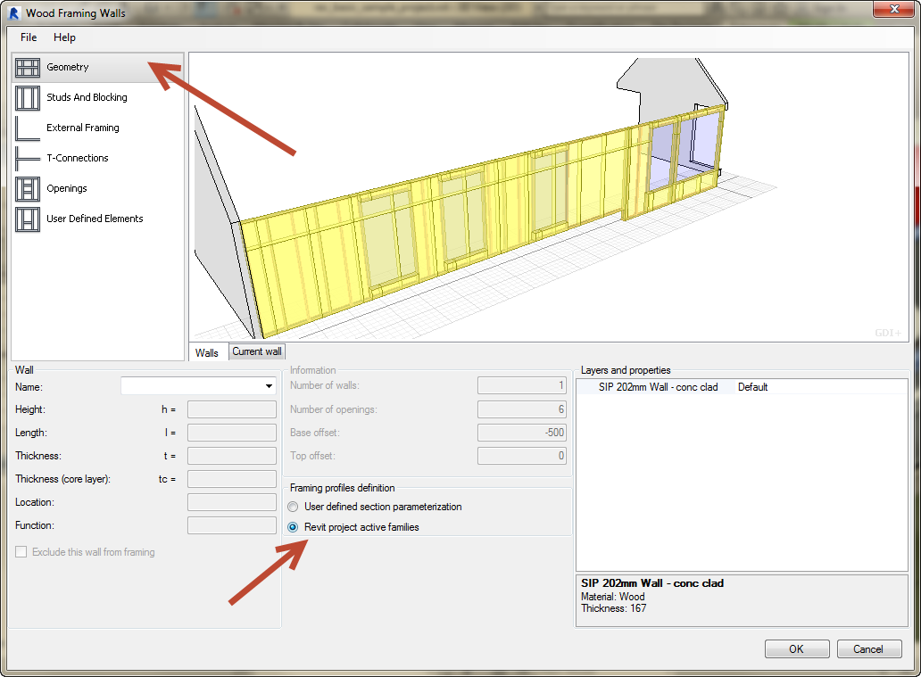 Revit-Wood-Framing-Wall-extension-tool-07 How to use your own sections in the Revit Wood Framing Wall extension tool