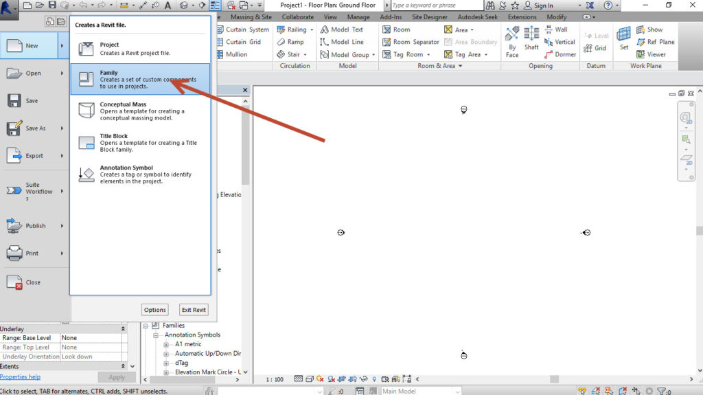 1-Create-Family-1024x575 Creating a generic adaptive component in Revit