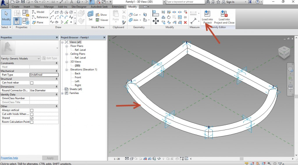10-Select-the-Rectangle-and-the-4-slines-and-create-geometry-1024x569 Creating a generic adaptive component in Revit