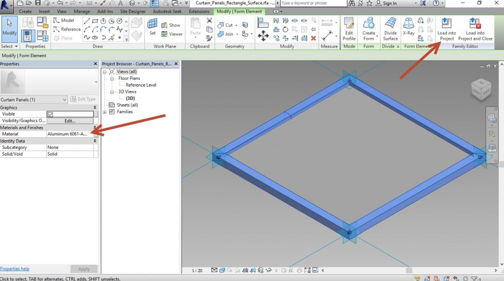 Creating an adaptive mass model in Revit