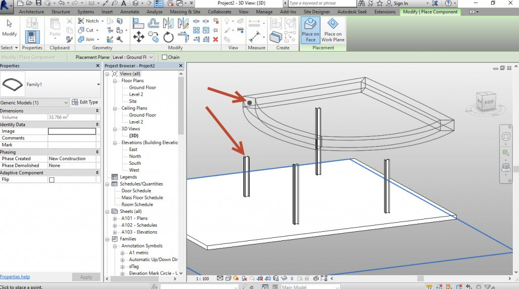 12-Place-the-4-Placement-point-on-top-of-the-4-columns-in-this-case-1024x570 Creating a generic adaptive component in Revit