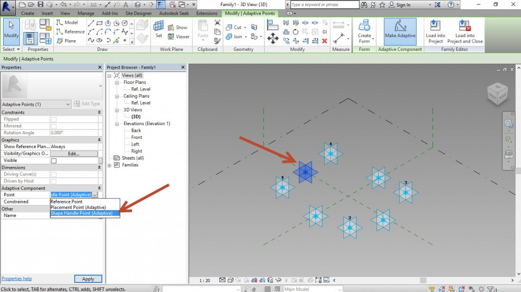 5-Place4-more-points-and-change-them-to-Shape-handles-1024x574 Creating a generic adaptive component in Revit