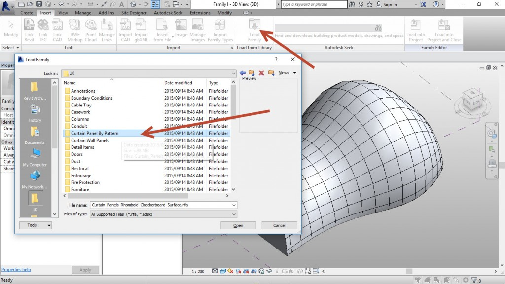 6-Load-the-appropriate-family.-1024x576 Creating an adaptive mass model in Revit