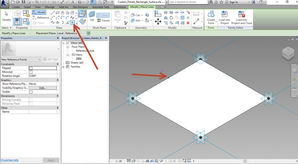9-Place-a-point-1024x566 Creating an adaptive mass model in Revit