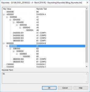 Revit Keynoting - Edit Using Excel