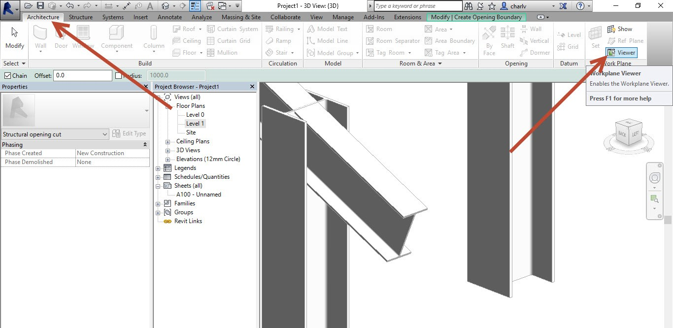 4-1 How to Copy a Revit Beam opening from one beam to the next.