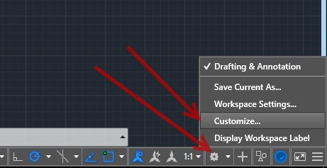 4 Adding an old Classic Toolbar into AutoCAD's ribbon.