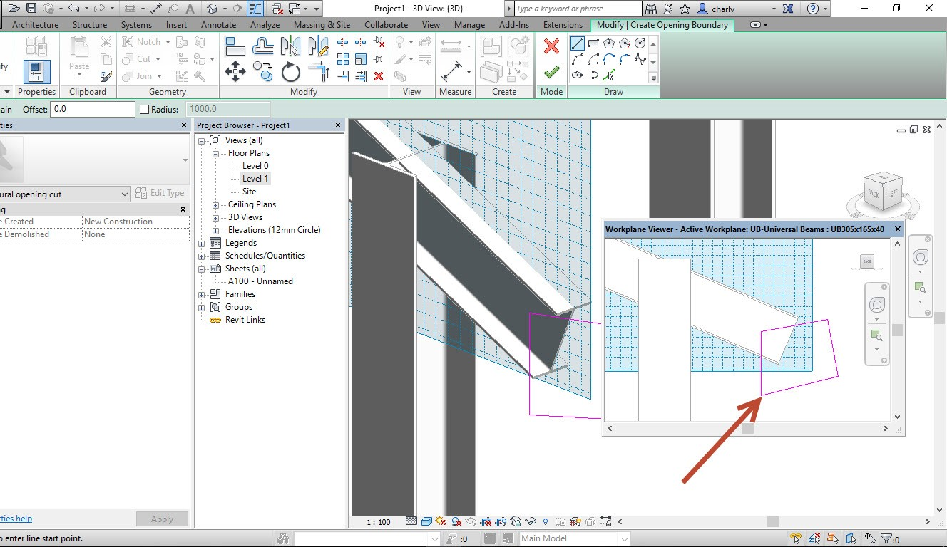 5 How to Copy a Revit Beam opening from one beam to the next.