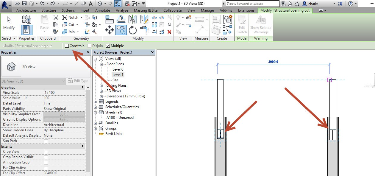 7-1 How to Copy a Revit Beam opening from one beam to the next.