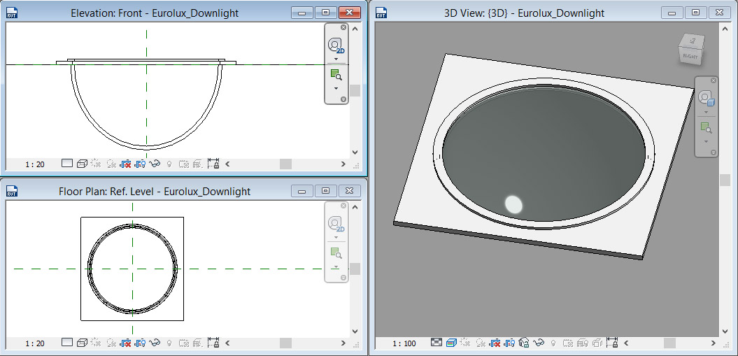Ceiling-Based-Downlight-in-Revit-29 Ceiling Based Downlight Using IES file from Manufacturer