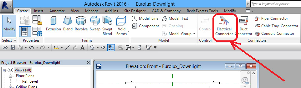 Ceiling-Based-Downlight-in-Revit-34 Ceiling Based Downlight Using IES file from Manufacturer