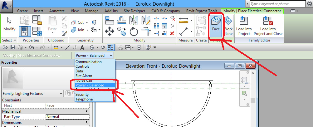 Ceiling-Based-Downlight-in-Revit-35 Ceiling Based Downlight Using IES file from Manufacturer