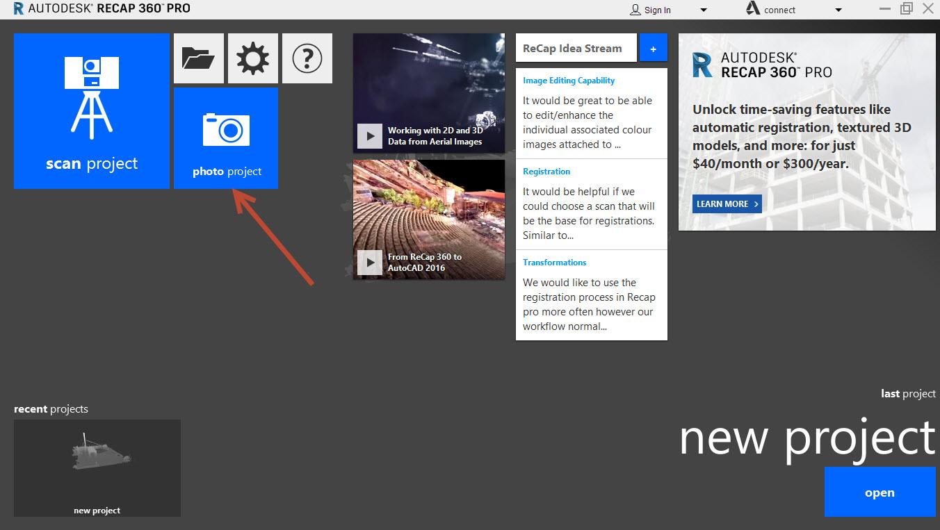 Recap-Pro Recap 360, Recap 360 Pro and Photo to 3D subscription add in
