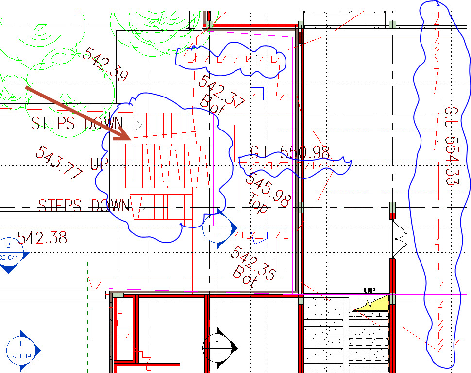 See-jagged-lines DWG Imported into Revit showing jagged lines