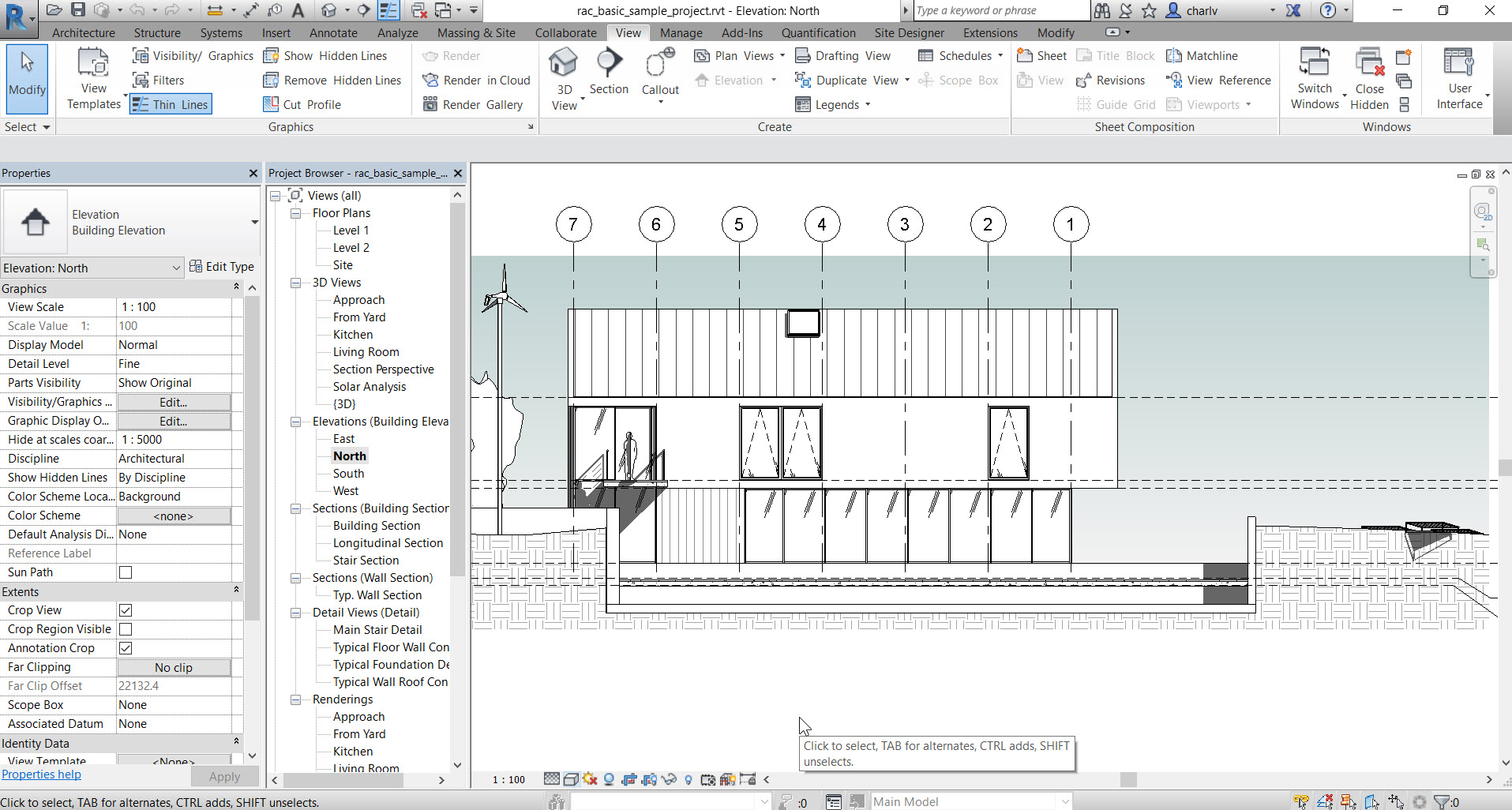2-1 How to see through a Revit Wall to show objects behind