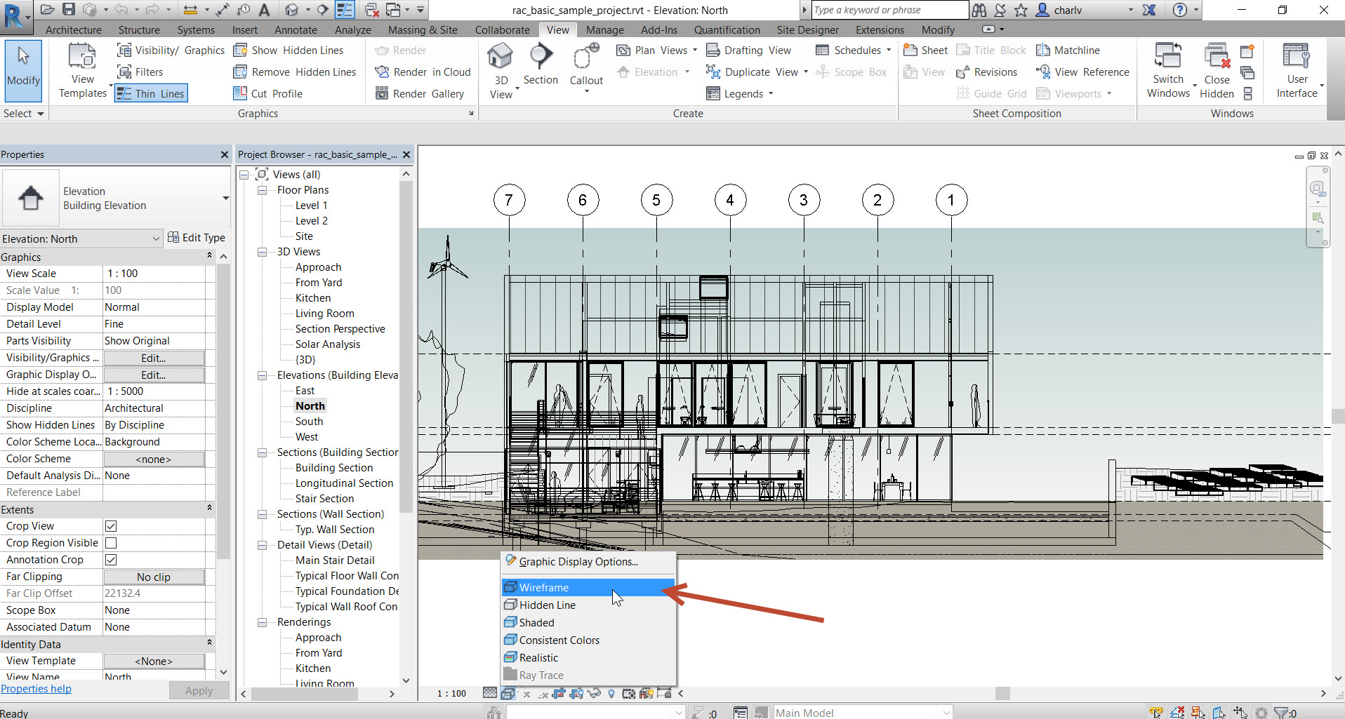 3-1 How to see through a Revit Wall to show objects behind