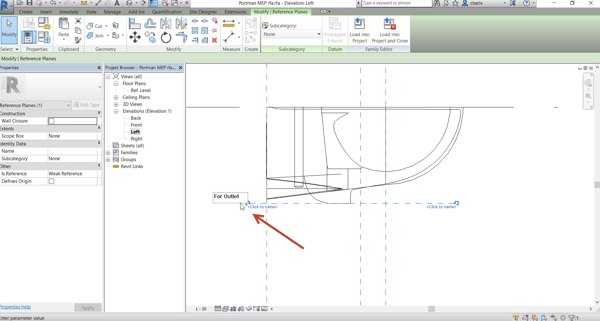 how to create a hole revit