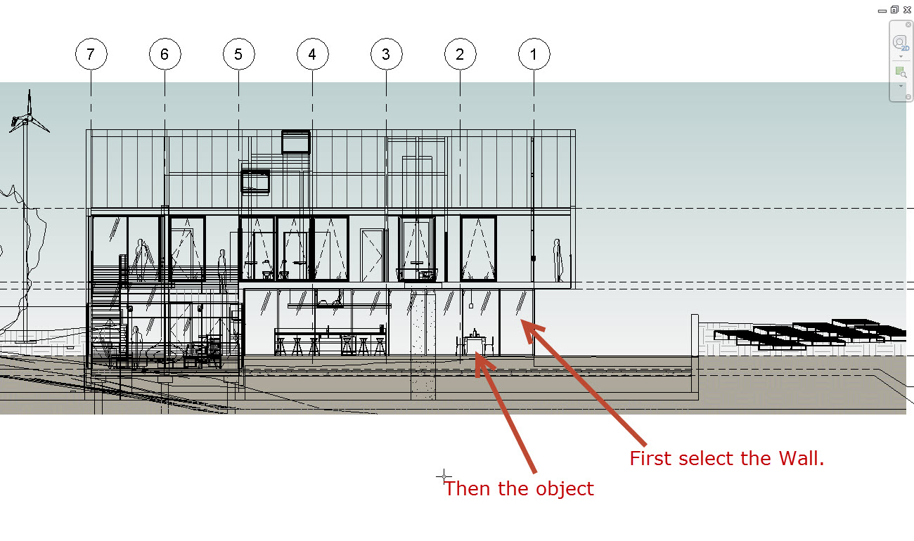 How to see through a Revit Wall to show objects behind