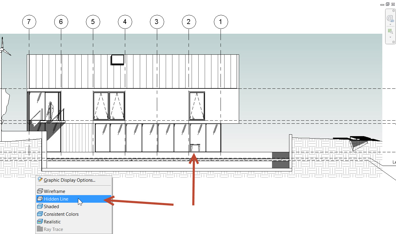 5-1 How to see through a Revit Wall to show objects behind