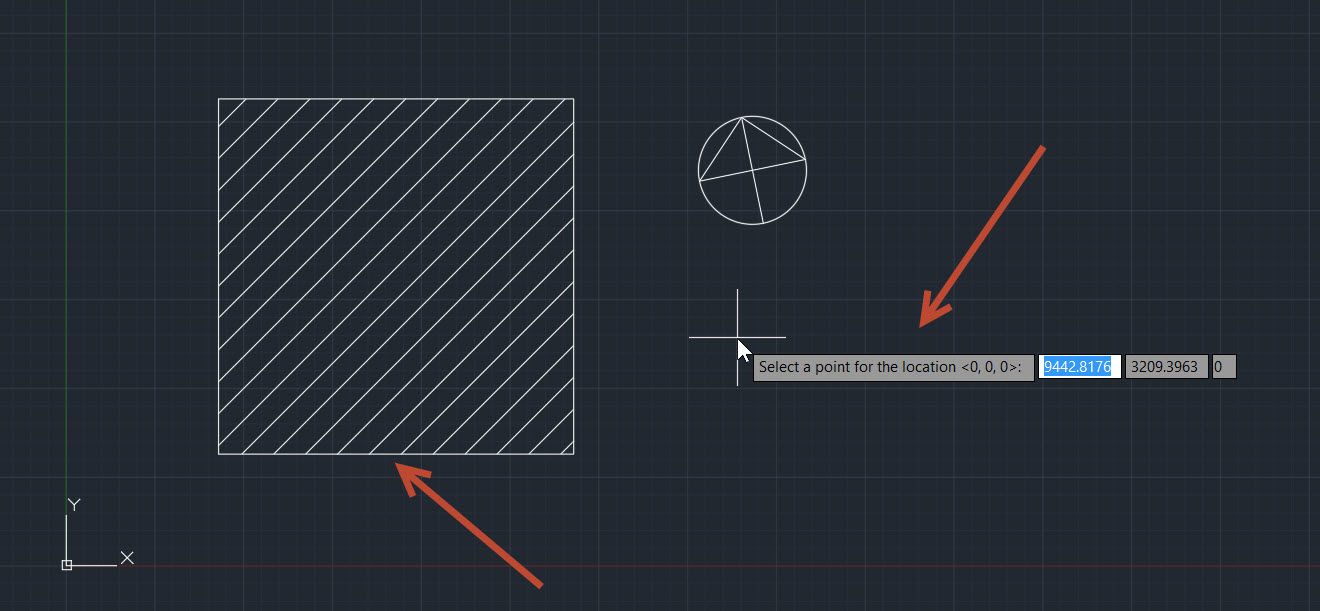 10-1 Using the Set Location tool in AutoCAD to add a terrain image to your drawing.