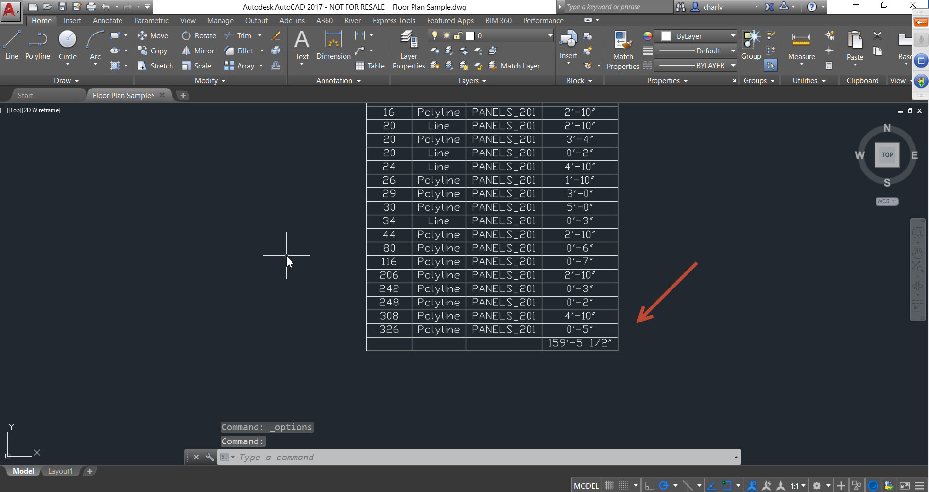 16 How to count lengths of objects in AutoCAD