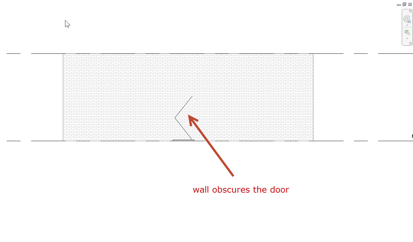 3 In Revit Phasing how do I see a new door in elevation that is placed in an existing wall