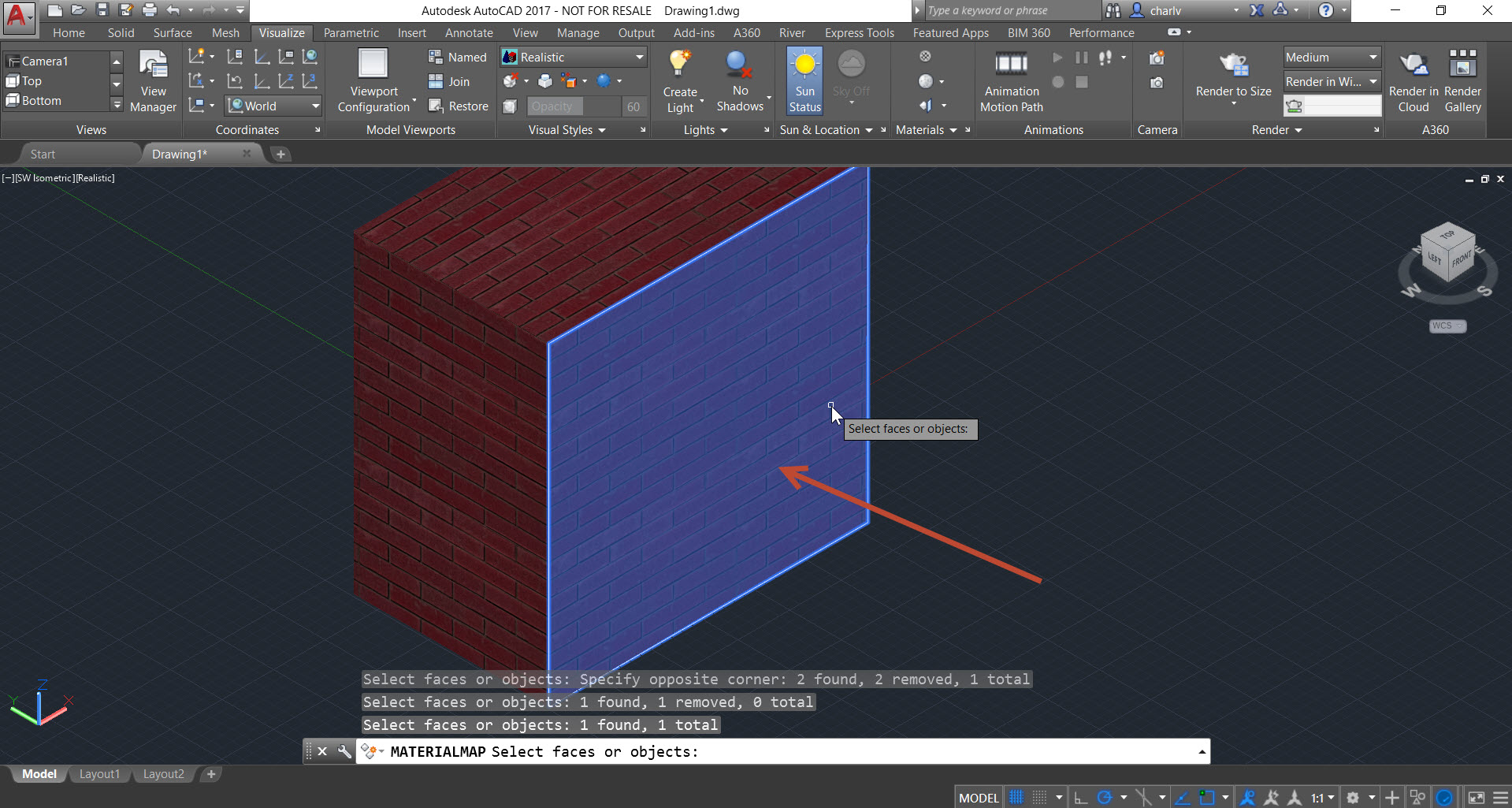 Mapping-3 How to use Planar Material Mapping in AutoCAD
