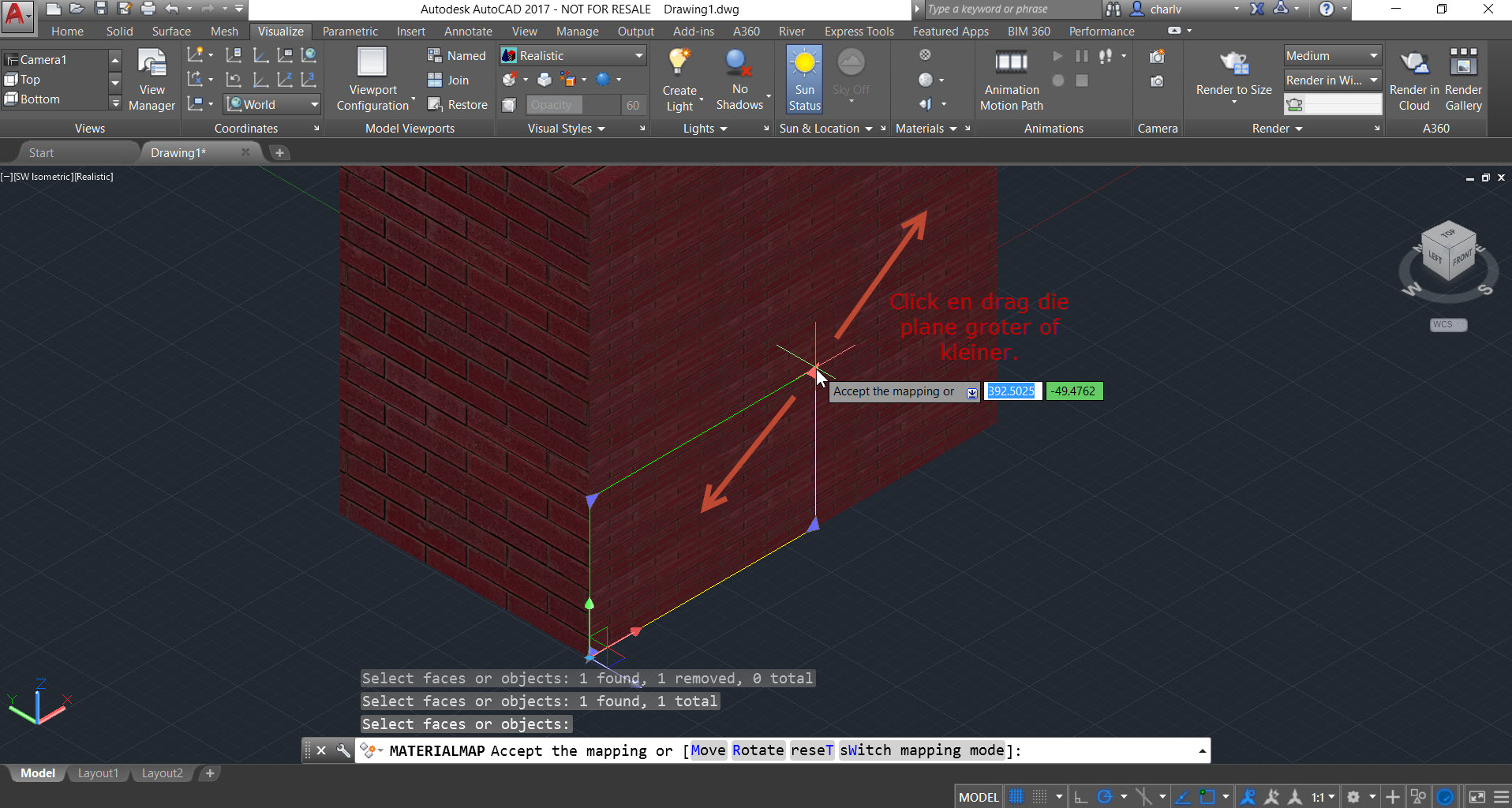 Mapping-4 How to use Planar Material Mapping in AutoCAD