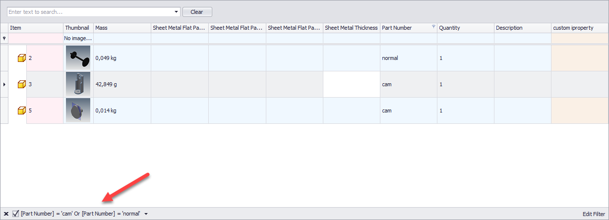 filter5 Enhancing Inventor – Tools for Inventor – BOM Tools Pro- Part 3
