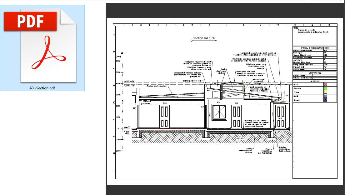 Plan To Elevation Converter : Vector pdf to cad revit elevation