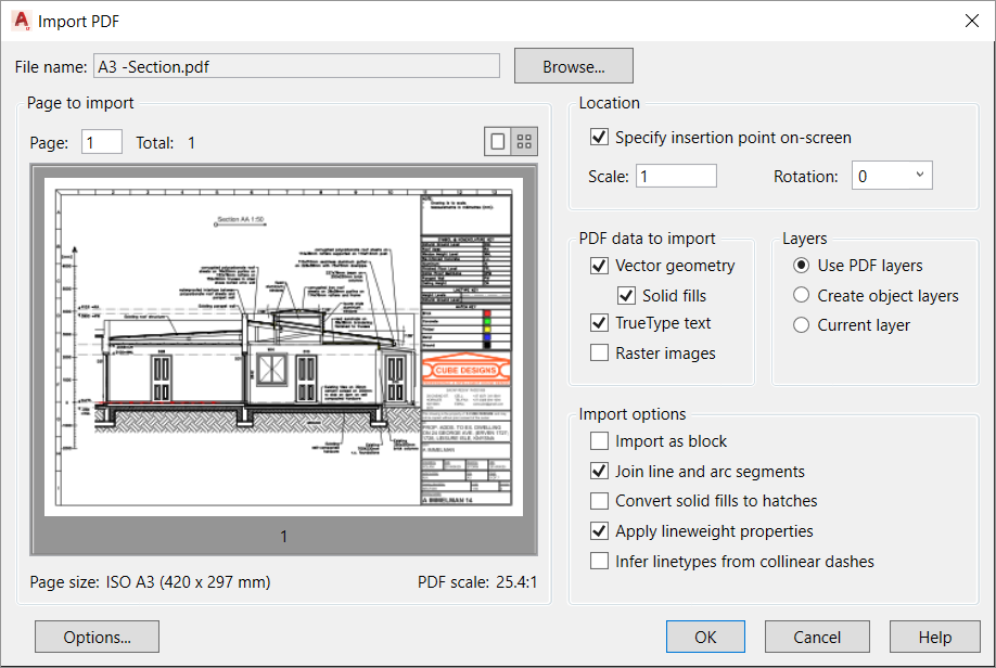 3 Vector PDF to CAD to Revit Elevation
