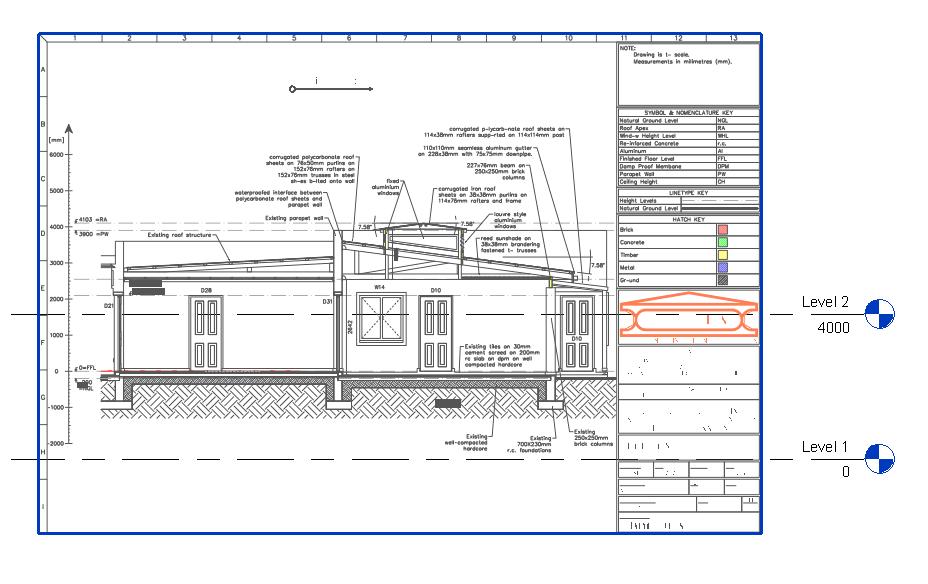 Revit Building Elevation : Vector pdf to cad revit elevation